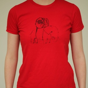 Elephant Kids T-Shirt - Red