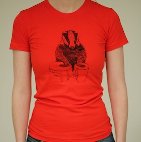 Badger Ladies T-Shirt - Poppy Red