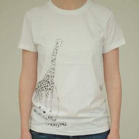 Giraffe Ladies T-Shirt - White