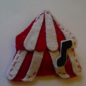 Big Top - Home-made Felt Badge