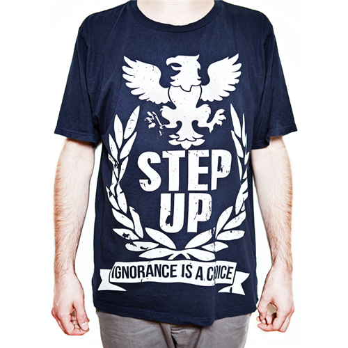 Ignorance Is A Choice T-Shirt [Grey on Blue] - Mens