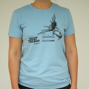 5yr Peacock Ladies T-shirt - Baby Blue