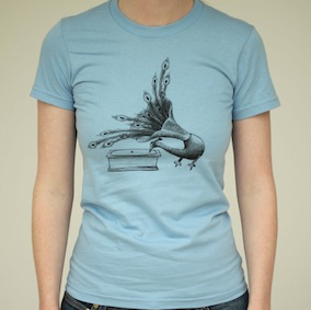 Peacock Ladies T-Shirt - Baby Blue