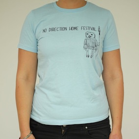 No Direction Home. Owl Childrens T-Shirt - Light Blue