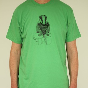 Badger Mens T-Shirt - Grass Green