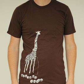 Giraffe Mens T-Shirt - Brown