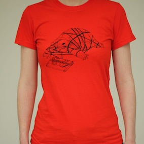 Tortoise Ladies T-Shirt - Poppy Red