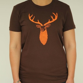 Stag Ladies T-Shirt - Brown