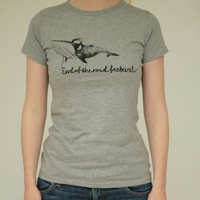 Whale Ladies T-Shirt - Light Grey