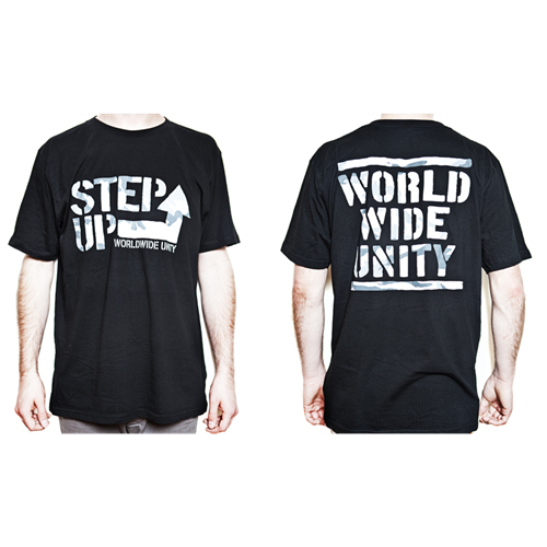 World Wide Unity T-Shirt [camo on black] - Mens