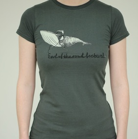 Whale Ladies T-Shirt - Dark Grey