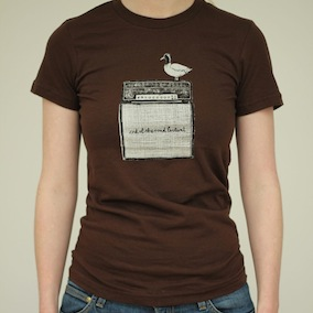 Duck Ladies T-Shirt - Brown