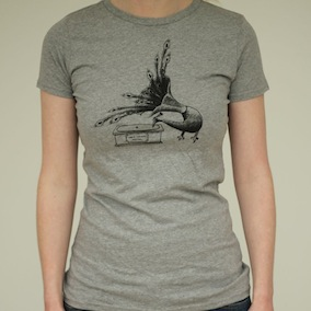 Peacock Ladies T-Shirt - Light Grey