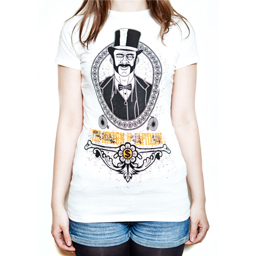 Museum Of Capitalism T-Shirt [White] - Ladies