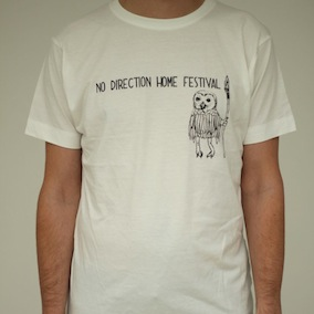 No Direction Home. Owl Mens T-Shirt - Faded White