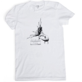 Peacock Ladies T-Shirt - White