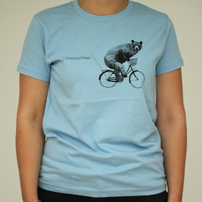 Bear Ladies T-Shirt - Baby Blue