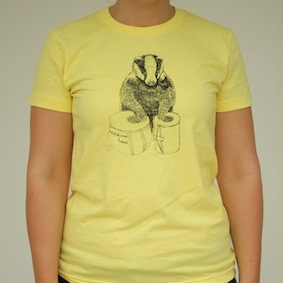 Badger Ladies T-Shirt - Lemon