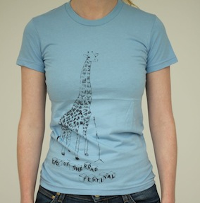 Giraffe Ladies T-Shirt - Baby Blue