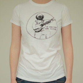 Woody Guthrie Ladies T-Shirt - White