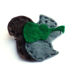Squirrel: Home-made Felt Badge